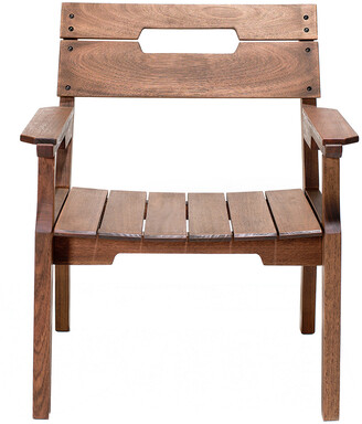 Alaterre Otero Eucalyptus Wood Outdoor Dining Arm Chair