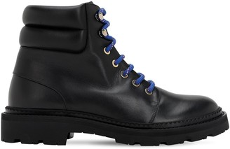Bally 30MM GANYA LEATHER COMBAT BOOTS