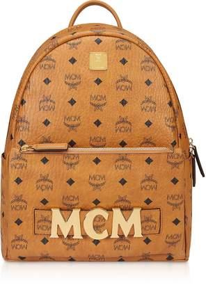 MCM Cognac Trilogie Stark Small/medium Backpack