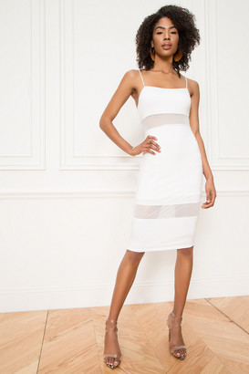superdown Naomi Mesh Cut Out Midi Dress