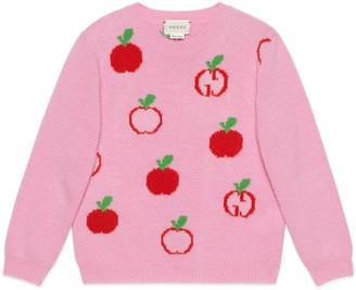 Gucci Children's GG apple wool jumper