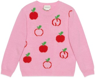Gucci Children's GG apple wool sweater