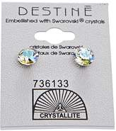 Crystallite Glacier Blue Diamond Earrings