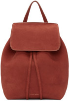 Mansur Gavriel Red Suede Mini Backpack