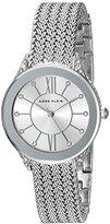 Anne Klein Women's AK/2209SVSV Swarovski Crystal Accented Silver-Tone Mesh Bracelet Watch
