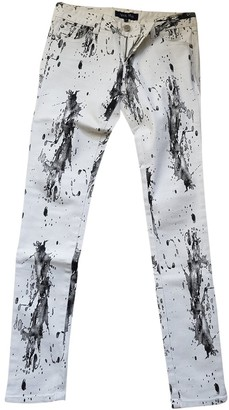 April May White Cotton Jeans for Women