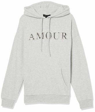 Forever 21 Women's Plus Size Faux Pearl Amour Graphic Hoodie