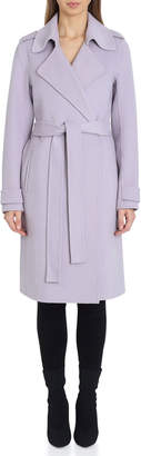 Badgley Mischka Chloe Double-Face Wrap Coat