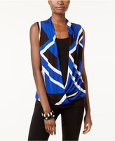 INC International Concepts Surplice Colorblocked Sweater, Only at Macy's