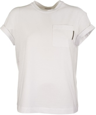 Brunello Cucinelli Short Sleeve T-shirt Cotton Jersey T-shirt With Precious Detail