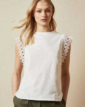 Ted Baker ULAYNA Lace detail sleeveless top