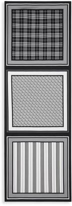 Burberry Monochrome Multi-Print Silk Scarf