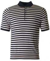 Paul Smith Short Sleeved Knit Stripe Polo Shirt