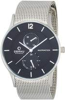 Obaku V157GMCBMC Men's Classic Analog Watch with 3 Hands
