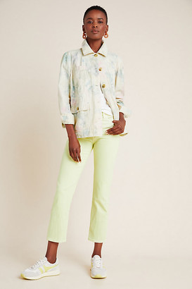AG Jeans The Isabelle High-Rise Cropped Straight Jeans By in Yellow Size 25