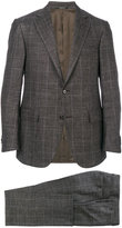 Corneliani plaid two-piece suit - men - Silk/Linen/Flax/Cupro/Virgin Wool - 48