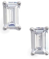 Nordstrom Women's Emerald Cut 0.50Ct Tw Cubic Zirconia Stud Earrings