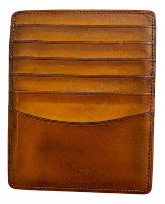 Non Signã© / Unsigned Gold Leather Small bags, wallets & cases
