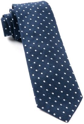 Tie Bar Dotted Dots Navy Tie