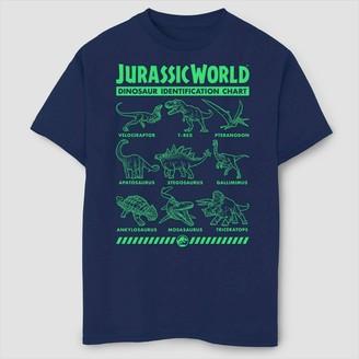 Fifth Sun Boys' Jurassic World Fallen Kingdom Dino Identification T-Shirt - Navy