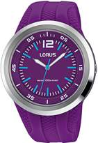 Lorus Women's 40mm Silicone Band Plastic Case Quartz Watch Rrx23ex9