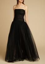 KHAITE The Fran Dress in Black
