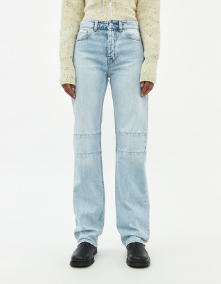 Our Legacy Women's Extended Linear Cut Jean in Super Light Wash, Size 26 | 100% Cotton