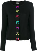 Moschino bow embroidered dress - women - Wool - 42