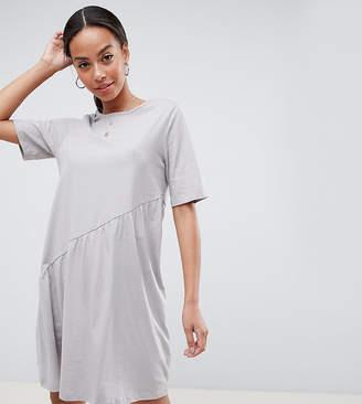 Noisy May Tall Asymmetric Jersey Dress-Grey