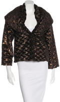 Alice + Olivia Metallic Faux Fur Jacket