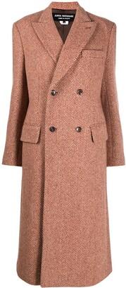 Junya Watanabe Double-Breasted Chevron Knit Coat