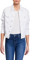 AG Jeans Robyn Button-Front Denim Jacket, True White
