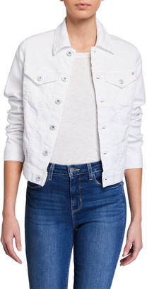 AG Jeans Robyn Button-Front Denim Jacket, True White