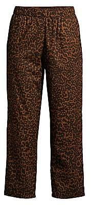 MAISON DU SOIR Women's Positano Cheetah Print Pajama Pants