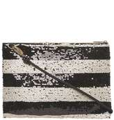Dorothy Perkins Black Sequin Stripe Crossbody