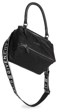 Givenchy Small Nylon Pandora Bag With Logo Strap