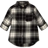 River Island Mini boys black check shirt