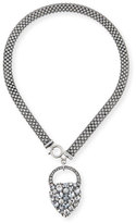 Lulu Frost Nina Crystal Heart Lock Necklace