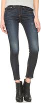 Rag & Bone High Rise Skinny Zipper Crop Jeans
