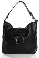 Ralph Lauren Black Leather Shoulder Handbag