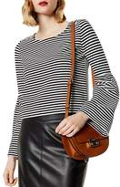 Karen Millen Bell Sleeve Striped Top