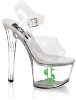 Pleaser USA Tip Jar Money Sign Platform Sandal