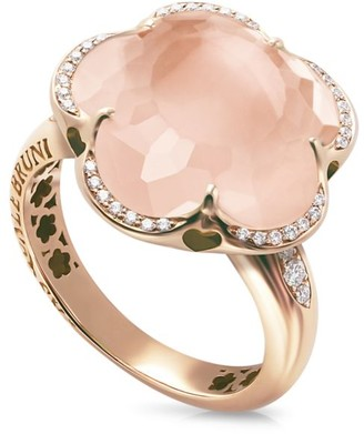 Pasquale Bruni Bon Ton 18K Rose Gold, Rose Quartz & Diamond Ring