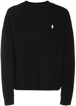 Marcelo Burlon County of Milan Logo Embroidery Wool Sweater