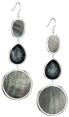 Ippolita Polished Rock Candy Sterling Silver & Multi-Stone Graduated Drop Earrings