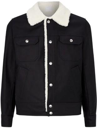 Sandro Paris Cotton Fleece-Lined Jacket