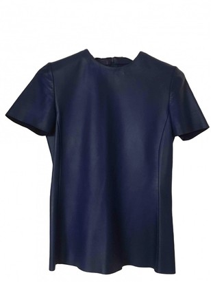 Celine Blue Leather Top for Women