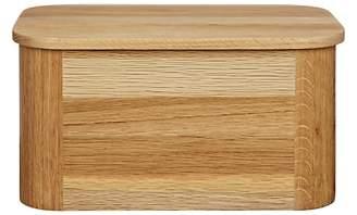 John Lewis & Partners Oak Wood Bread Bin