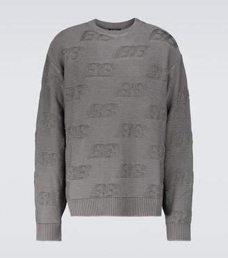 Balenciaga BB all-over crewneck sweater