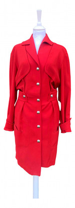 Thierry Mugler Red Wool Jumpsuits